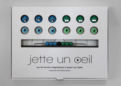 jetteunoeil 12 boules couleurs bleu-vert