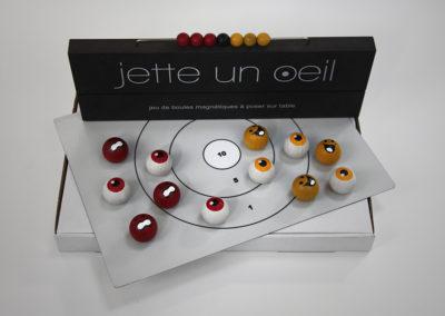 jetteunoeil 12 boules couleurs jaune-rouge