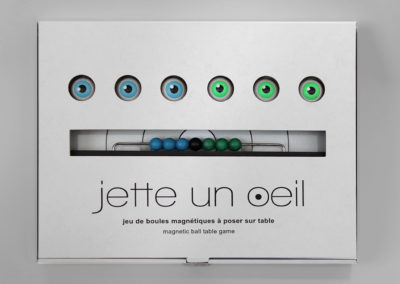 jetteunoeil 6 boules couleurs bleu-vert