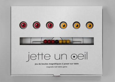 jetteunoeil 6 boules couleurs jaune-rouge
